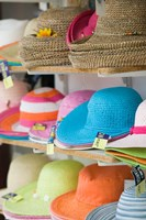 Hats for Sale, Kokkari, Samos, Aegean Islands, Greece Fine Art Print
