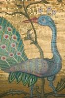 Peacock Mosaic, Eleftherotria Monastery, Macherado, Zakynthos, Ionian Islands, Greece Fine Art Print