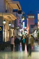 Shoppers on Lithostrotou Street, Argostoli, Kefalonia, Ionian Islands, Greece by Walter Bibikow - various sizes