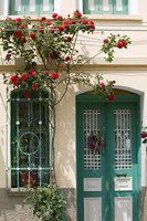 Village Doorway, Agiasos, Lesvos, Mytilini, Aegean Islands, Greece by Walter Bibikow - various sizes