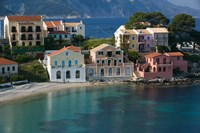 Waterfront Resort Houses, Assos, Kefalonia, Ionian Islands, Greece Fine Art Print