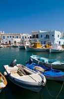 Fishing Boats in Naoussa, Paros, Greece Fine Art Print