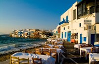 Little Venice, Mykonos, Greece Fine Art Print