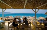 St Stefanos Beach, Mykonos, Greece Fine Art Print