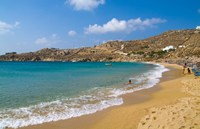 Super Paradise Beach, Mykonos, Greece Fine Art Print