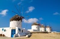 Traditional Windmill, Mykonos, Greece Fine Art Print