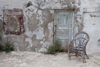 Old Building chair and doorway in town of Oia, Santorini, Greece by Darrell Gulin - various sizes