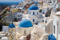 Blue Domed Churches, Oia, Santorini, Greece Fine Art Print