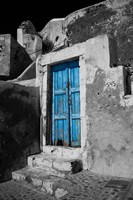 Colorful Blue Door, Oia, Santorini, Greece Fine Art Print