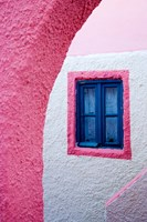 Colorful Pink Building, Imerovigli, Santorini, Greece Fine Art Print