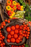 Market With Vegtables, Fira, Santorini, Greece Fine Art Print