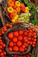 Market With Vegtables, Fira, Santorini, Greece by Darrell Gulin - various sizes