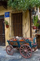 Old Wagon Cart, Chania, Crete, Greece Fine Art Print