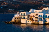 Shoreline of Little Venice, Hora, Mykonos, Greece Fine Art Print
