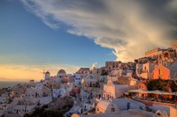 Greece, Santorini, Oia, Colorful Buildings by Darrell Gulin - various sizes