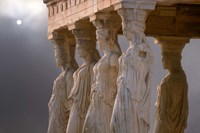Greek Columns and Greek Carvings of Women, Temple of Zeus, Athens, Greece by Jaynes Gallery - various sizes