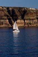 Greece, Cyclades, Santorini, Sailing by Cindy Miller Hopkins - various sizes