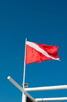 Diving Flag, Mykonos, Cyclades, Greece by Sergio Pitamitz - various sizes