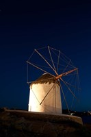 Windmill, Chora, Mykonos, Cyclades, Greece Fine Art Print