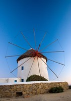 Greece, Mykonos, Hora, Windmills Fine Art Print