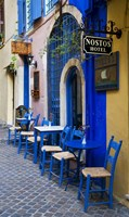 Colorful Blue Doorway, Chania, Crete, Greece by Darrell Gulin - various sizes