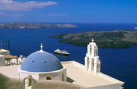 Kimisis Theotokov Church, Thira, Santorini, Cyclades Islands, Greece Fine Art Print