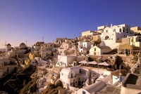 Old Town in Late Afternoon, Santorini, Cyclades Islands, Greece by Walter Bibikow - various sizes
