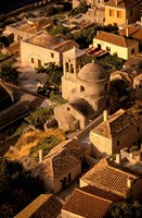 Town View from Cliffs, Monemvasia, Lakonia, Greece by Walter Bibikow - various sizes, FulcrumGallery.com brand