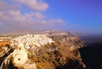 Late Afternoon View of Town, Thira, Santorini, Cyclades Islands, Greece by Walter Bibikow - various sizes