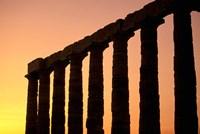 Temple of Poseidon Columns at Sunset, Cape Sounion, Attica, Greece by Walter Bibikow - various sizes