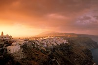 Town View at Dawn, Thira, Santorini, Cyclades Islands, Greece by Walter Bibikow - various sizes