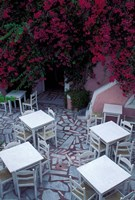 Restaurant Patio, Santorini, Greece by Keren Su - various sizes