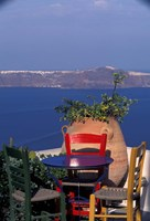 Terrace with Sea View, Santorini, Greece by Keren Su - various sizes