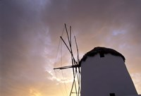 Windmill at Sunrise, Mykonos, Greece Fine Art Print