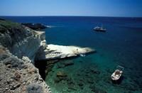 Gerontas, White Sandstone Rock of Aegean Sea, Milos, Greece Fine Art Print