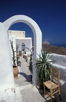 Chora Houses, Blue Aegean Sea, and Agave Tree, Cyclades Islands, Greece by Michele Molinari - various sizes