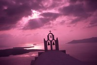 Church Steeple with Evening Rays, Santorini Island, Greece by Jaynes Gallery - various sizes