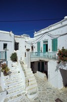 Stairs, Houses and Decorations of Chora, Cyclades Islands, Greece by Michele Molinari - various sizes