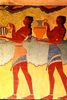 Artwork in Heraklion Knossos Palace, Greece Fine Art Print