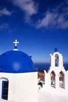White Orthodox Church of Oia Santorini, Greece by Bill Bachmann - various sizes - $43.99