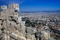 View of Athens From Acropolis, Greece Fine Art Print