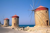 Old Windmills of Rhodes, Greece by Bill Bachmann - various sizes