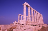 Ruins on Cliff in Cape Sounion, Poseidon, Greece by Bill Bachmann - various sizes