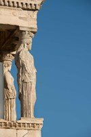 Greece, Athens, Acropolis The Carved maiden columns of the Erectheum Fine Art Print
