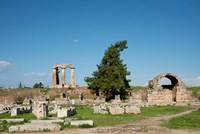 Greece, Corinth Carved stone rubble and the Doric Temple of Apollo by Cindy Miller Hopkins - various sizes