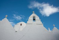Greece, Cyclades, Mykonos, Hora Church rooftop with Bell Tower by Cindy Miller Hopkins - various sizes