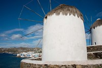 Greece, Cyclades, Mykonos, Hora Cycladic windmill in 'Little Venice' by Cindy Miller Hopkins - various sizes