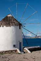 Greece, Cyclades, Mykonos, Hora Historic Cycladic style Windmill Fine Art Print