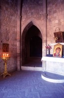 Inside Our Lady of Filerimos Church, Rhodes, Dodecanese Islands, Greece Fine Art Print