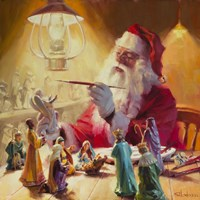 Santa More Than Toys Fine Art Print